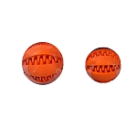 DogSpot Rubber Dental Chew Ball with Rope - Small