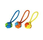 DogSpot Rope Ball Tug - 12 Inches