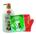 Forbis Long Coat Aloe Dog Shampoo - 750 Ml With Glove & Towel
