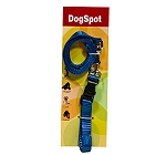 DogSpot Nylon Leash And Collar Set Large - Blue