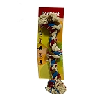 DogSpot Three Knot Cotton Rope Toy - Large