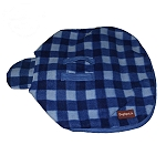 DogSpot Classic Check Dog Coat Blue - Size 22