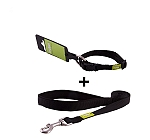 DogSpot Premium Leash and Collar Set Black 10 mm - Large