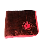 DogSpot Paw Print Velvet Dog Blanket Small - Brown