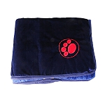 DogSpot Paw Print Velvet Dog Blanket Medium - Blue