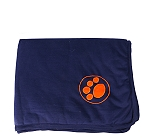 DogSpot Paw Print Flannel Dog Blanket Medium - Blue