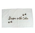DogSpot Luxurious Pillow Cover With Caption Sleep With Cat - (LxW - 28X18)