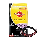 Pedigree Dog Food Puppy Small Breed Professional - 3 Kg With Ergocomfort Dog Collar Small-Red