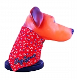 DogSpot Floral Print Reversible Bandana Red & Blue - Large