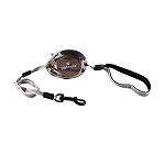Petmate Translucent Palm Retractable Leash Small - Grey