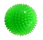 Gnawsome Squeak & Light Ball Green - 3.5 inches