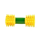 DogSpot Spiny Squeaky dumbell Toy