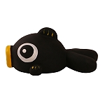 DogSpot Latex Buggle Fish Toy - Black