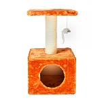 CatSpot Level Condo Cat Tree (LxBxH -11.8x11.8x21.6) Inches - Brown