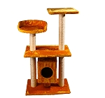 CatSpot Elite Cat Condo Tree (LxBxH-19.6x13.7x37.7) Inches - Yellow