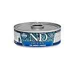 Farmina N&D wet Cat Food Grain Free Ocean COD Shrimp & Pumpkin Kitten - 80 gm (12 Cans)