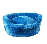 DogSpot Luxury Velour Basket Bed Turquoise - Small -  24 Inches
