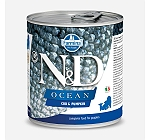 Farmina N&D Wet Dog Food Ocean Codfish & Pumpkin Adult - 285 gm (Pack Of 6)