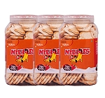Nibbles Peanut & Butter Dog Biscuit - 1 kg (Pack Of 3)