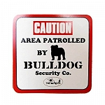 Vacky Pet Car Signs with Caption Caution Bulldog - (6X6) Inch