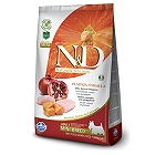 Farmina N&D Dry Dog Food Grain Free Pumpkin Chicken & Pomegranate Adult Mini Breed- 7 Kg