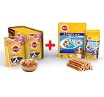 Pedigree Puppy Gravy Chicken & Rice 80gm ( 15 Pouch) + Dentastix Medium Breed 720gm ( 28 Sticks)