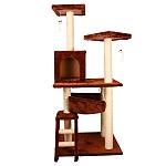 PetSpot Premium Dream World Cat Tree Gym With Cat Condo & Hammock (LxBxH -23.6x19.6x53) Inches