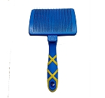 DogSpot Push Button Self Cleaning Dog Grooming Slicker Brush - Medium