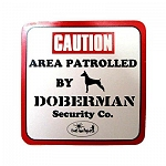 Vacky Pet Car Signs with Caption Caution Doberman - (6X6) Inch
