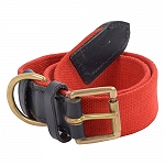 DogSpot Handcrafted Canvas Collar 25 mm Red - Large