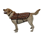 DogSpot Twisted Love Flannel Dog Coat Size - 12