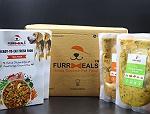 FurrMeals Medium Furry Weekly Veg Plan (Fresh Cottage Cheese & Peas) - 300 gm (Pack of 14)