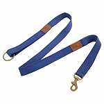 DogSpot Handcrafted Canvas Light Leash 20 mm Blue - 60 Inches