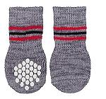Trixie Dog Socks Non-slip Grey Medium & Large - 2 Pieces