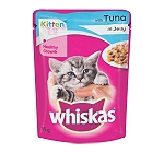 Whiskas Kitten Tuna in Jelly Pouch - 85 gm (Pack of 12)