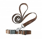 DogSpot  Leash & Collar Set Brown - Medium