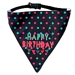 LANA Paws Happy Birthday Adjustable Bandana -Medium & Large