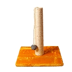 PetSpot Scratch Post With Ball Toy (LxBxH -13.7x13.7x17) Inches