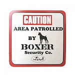 Vacky Pet Car Signs with Caption Caution Boxer - (6X6) Inch