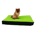 DogSpot Rectangular Bed Green & Black - Small - (LxBxH - 34.5x27x4.5) Inches