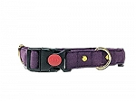 Mutt of Course Wildberry Water- Resistant Collar for Dogs Purple- Small