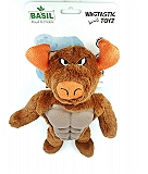 Basil Big Bull with TPR Dog Toy