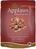 Applaws Cat Pouch Food Tuna Fillet with Pacific Prawns -70 gm (12 Pouches)