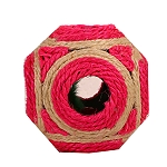PetSpot Sisal Feathered Cat Rattle Ball - 4.5 Inches