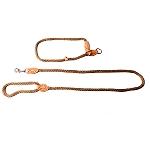 PetSpot British Style Braided Rope Slip Lead Matt Gold - Large