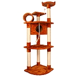 PetSpot Premium 4 Tier Cat Condo & Play Gym (LxBxH -27.5x19.6x66) Inches