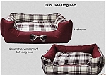 Dogue Couture Check Print Reversible Dog Bed  - Medium