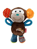 GiGwi Monkey plush Friends With Squeaker Dog Toy