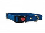 Mutt of Course Blueberry Water- Resistant Collar for Dogs Blue- Medium