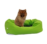 DogSpot Lounger Bed Green & Black - Medium - (LxWxH - 28x18x8) Inches